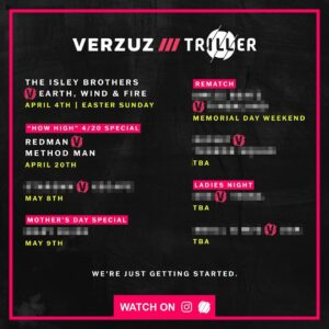 Verzuz Battle List